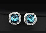 Blue Nile Crystal Stone Earrings - DHUAHU LLC - 2