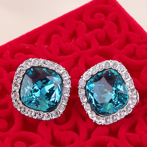 Blue Nile Crystal Stone Earrings - DHUAHU LLC - 1