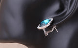 Blue Nile Crystal Stone Earrings - DHUAHU LLC - 5