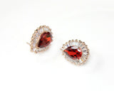Luxurious Red Crystal Earrings - DHUAHU LLC - 2