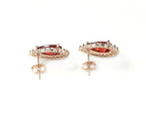 Luxurious Red Crystal Earrings - DHUAHU LLC - 3