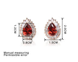 Luxurious Red Crystal Earrings - DHUAHU LLC - 4