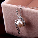 Pearls Jewelry Set with SWA Elements - DHUAHU LLC - 4