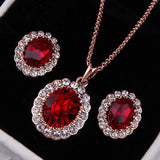 Red Emerald Crystal Set - DHUAHU LLC - 1