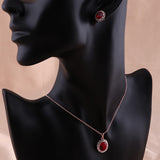 Red Emerald Crystal Set - DHUAHU LLC - 2