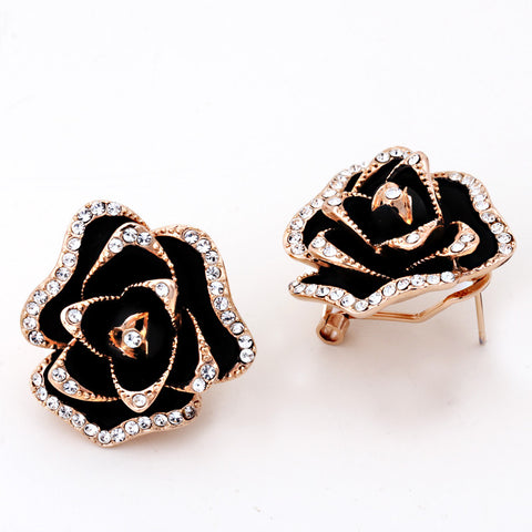 Blooming Rose Gold Plated  Jewelry Earring - DHUAHU LLC - 1