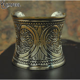 Antique Bronze Plated Big Cuff Bracelet - DHUAHU LLC - 2