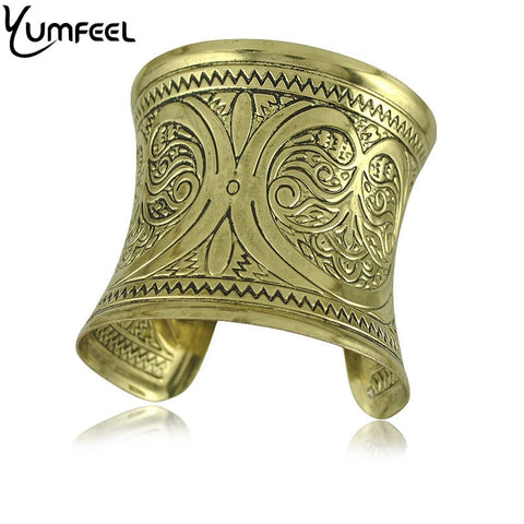 Antique Bronze Plated Big Cuff Bracelet - DHUAHU LLC - 1