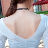 (TWO) Stretch Tattoo Choker Necklace Retro Gothic