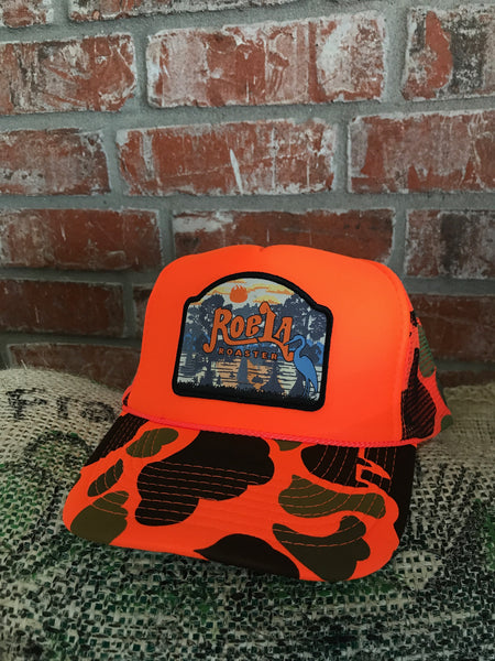 Patch Hat - Orange Camo Foam