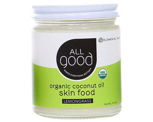 Organic Lemongrass Coconut Oil Skin Food