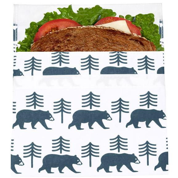 Reusable VelcroSandwich Bag | Charcoal Bear