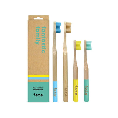 Multi Pack Family Bamboo Toothbrushes (1746924306503)