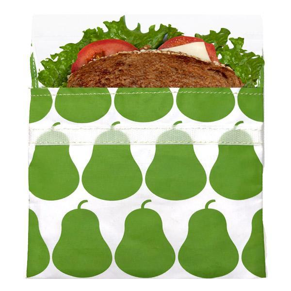 Reusable Velcro Sandwich Bag | Green Pear