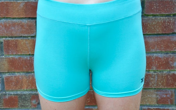 Organic Saba Compression Shorts in Ocean Wave