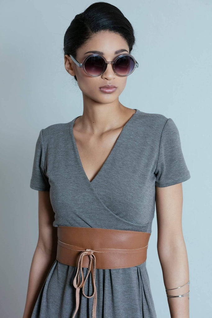 Marique Yssel leather belt plain large to xlarge, Moeitelose Mooi - Online Clothing Boutique