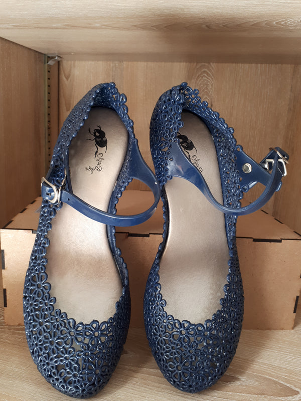 Olga Bolga Jelly Shoes Navy
