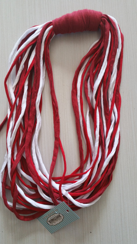 Grace. Red & White T-Yarn