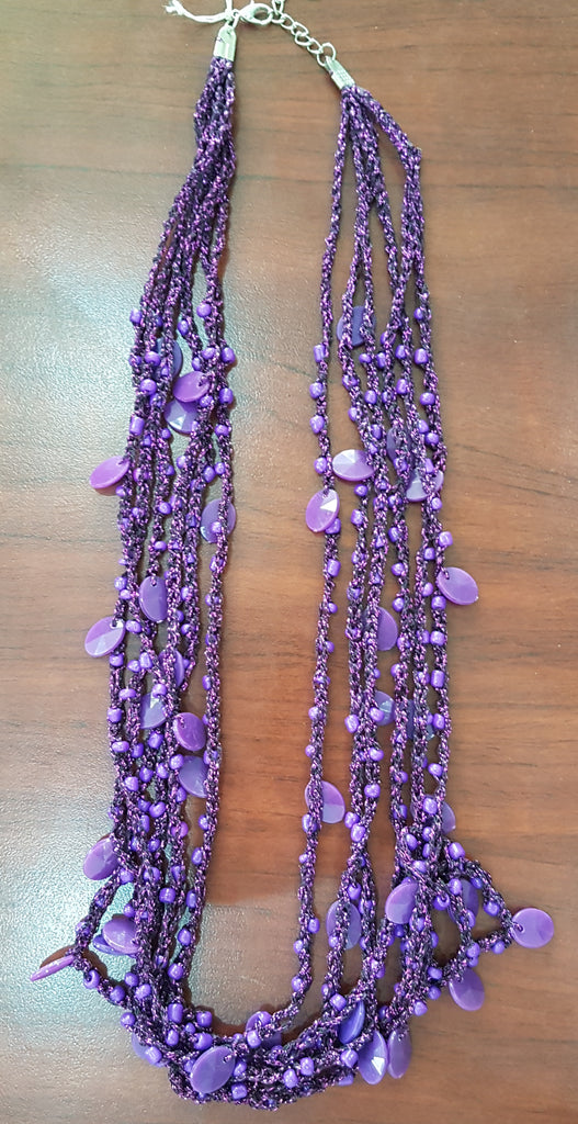 Purple necklace SB