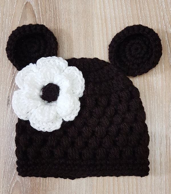 Mickey mouse baby knitted hats