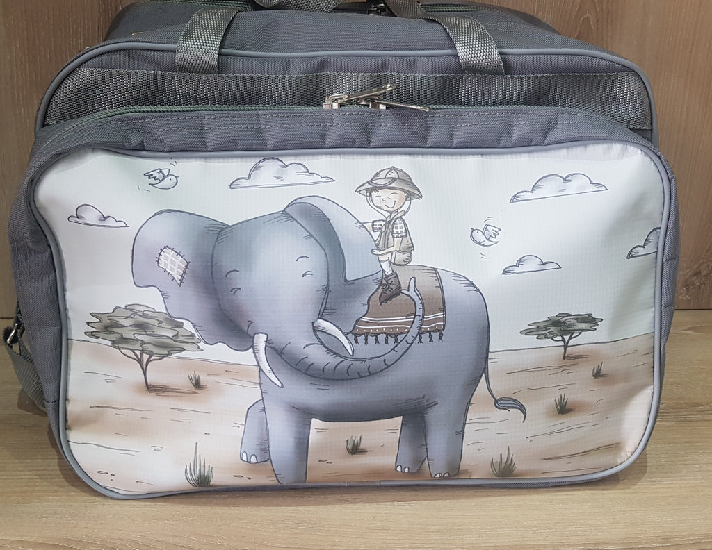 Nappy/Weekender Bag - Boy with Elephant (Safari Range)
