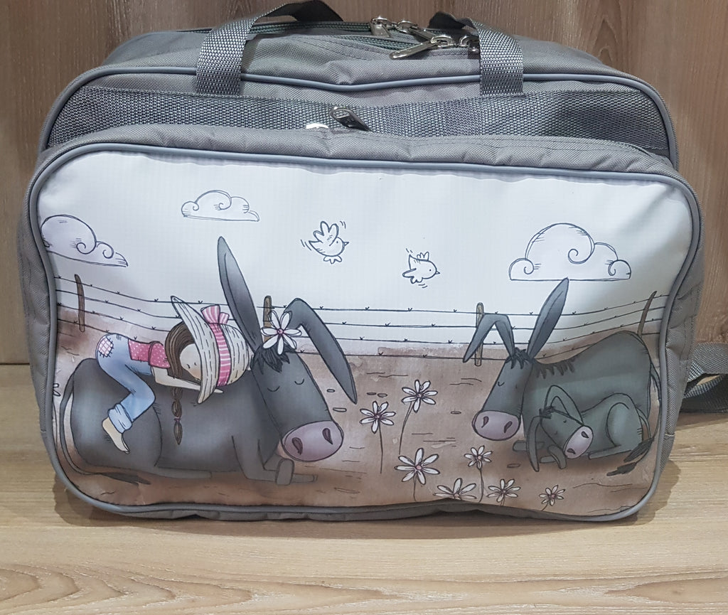 Nappy/Weekender Bag - Girl with Donkeys (Farm Range)