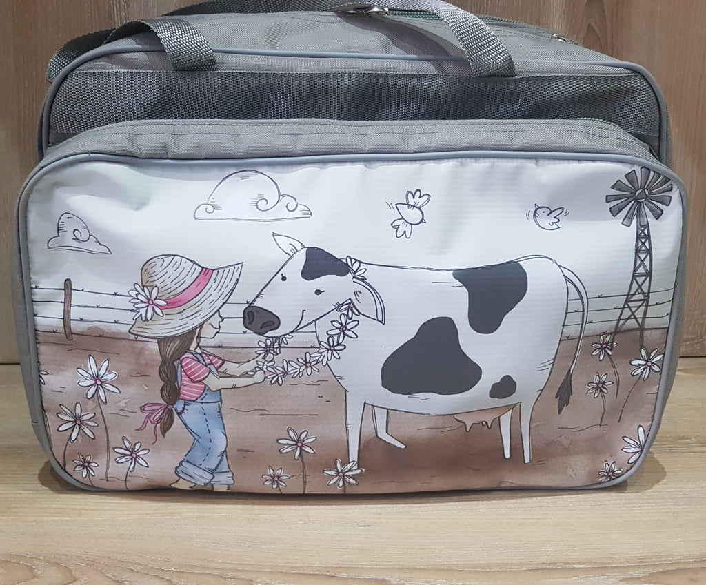 Nappy/Weekender Bag - Girl with Cow (Farm Range)