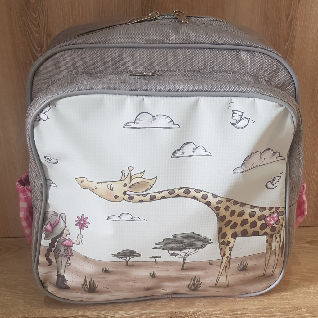 Backpack - Girl with Giraffe (Safari Range)