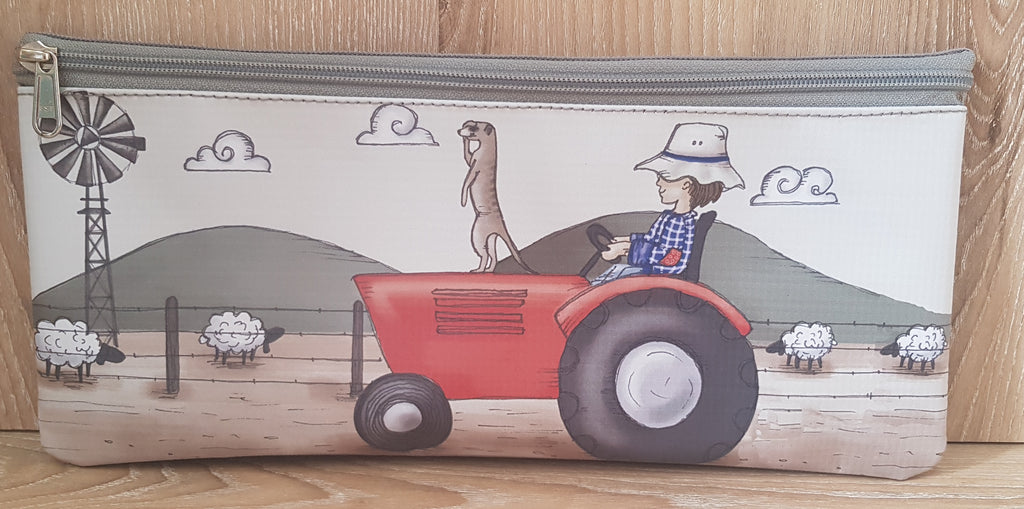 Pencil Bag - Boy with Red Tractor (Farm Range)