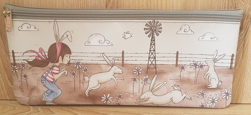 Pencil Bag - Girl with Rabbits (Farm Range)