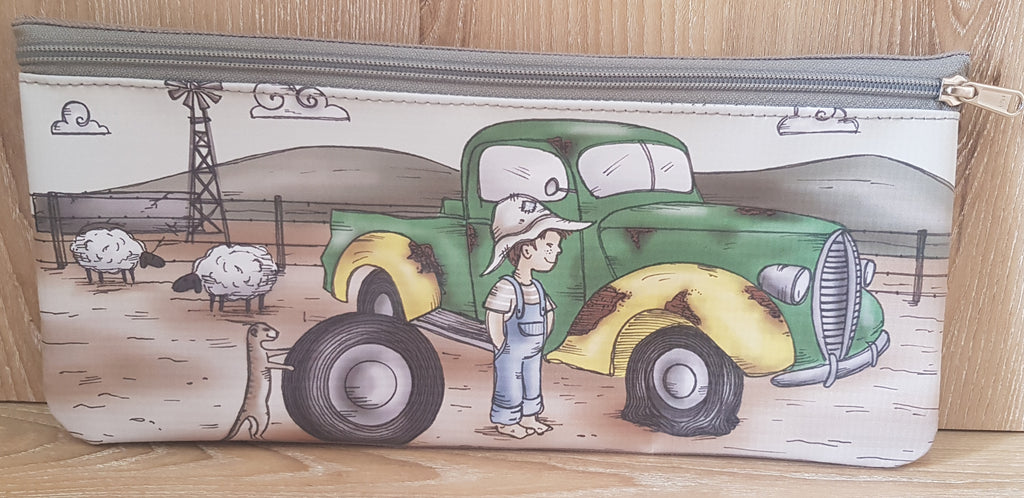 Pencil Bag - Boy with Green Bakkie (Farm Range)