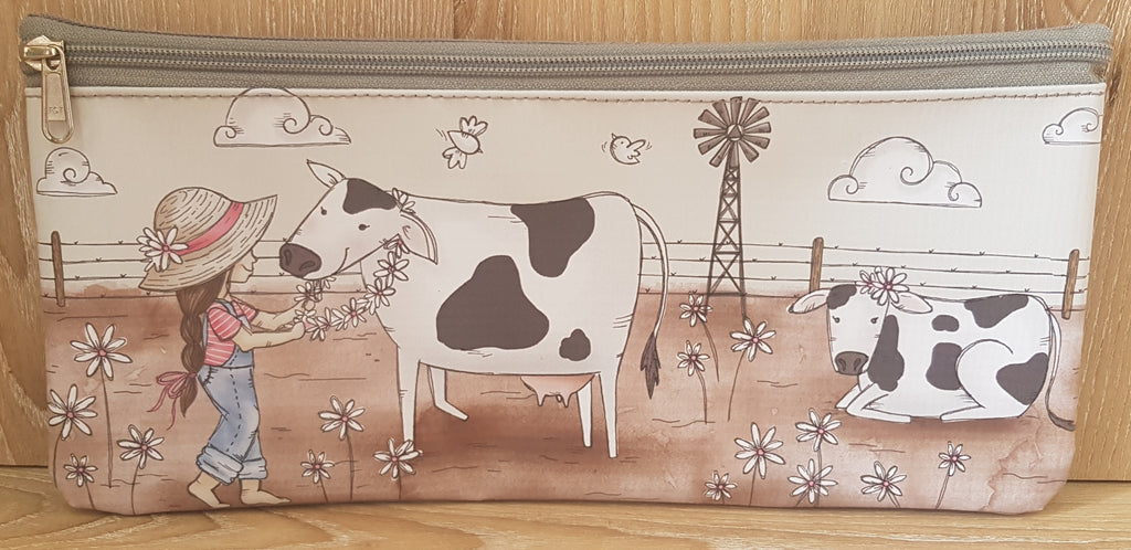 Pencil Bag - Girl with Cows (Farm Range)