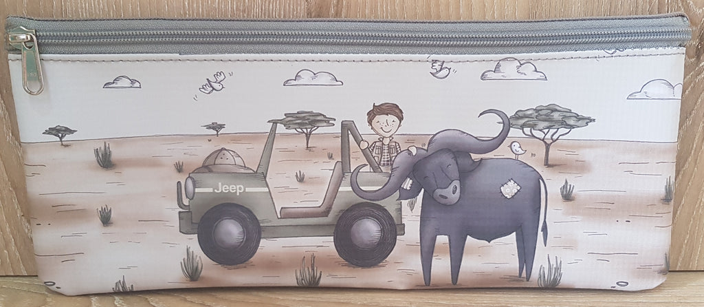 Pencil Bag - Boy with Buffalo (Safari Range)