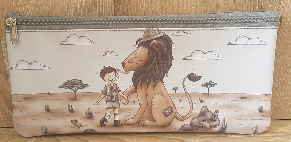 Pencil Bag - Boy with Lion (Safari Range)