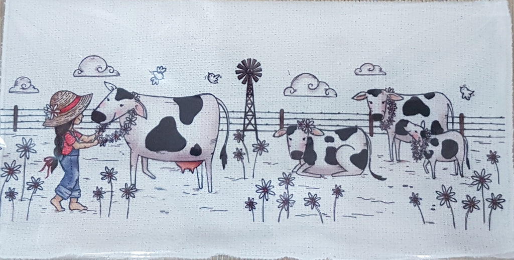 Wash Cloth - Girl with cow (Farm Range)