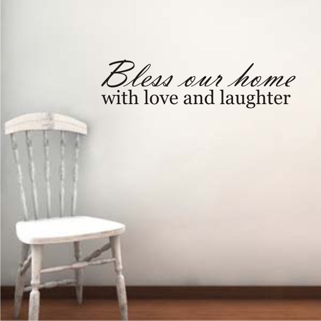 "The Letter Lady Vinyl Wall sticker ""Bless our home"" *"
