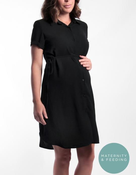 CM700C - Black Shirt Dress