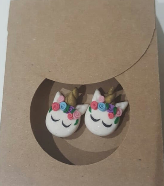 Wild Child Clay Studio Unicorn Stud Earrings