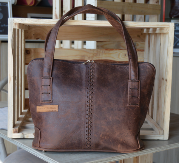Made by Mosaic - Naomi Bag - Diesel Brown