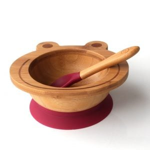 Organic Bamboo Bowl - Purple Froggy