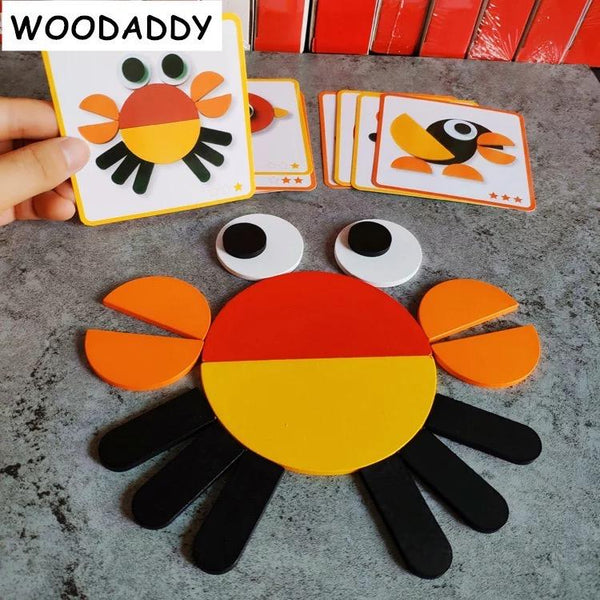 Wooden shapes & Copy Cards