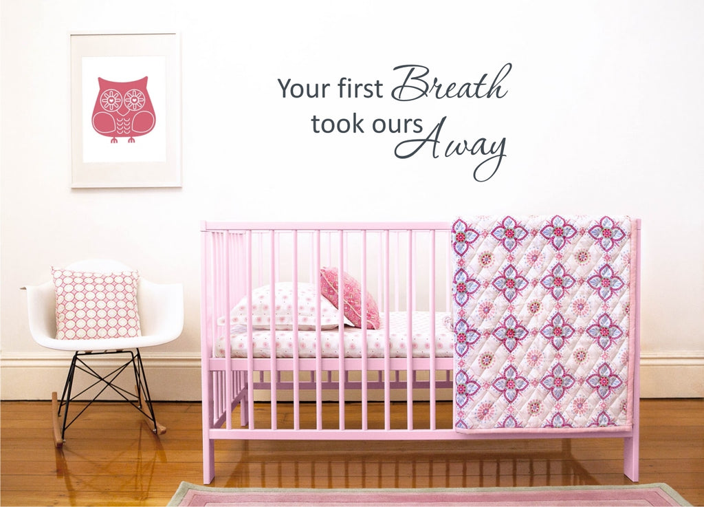 "The Letter Lady Vinyl Wall sticker ""You first Breath"" *"