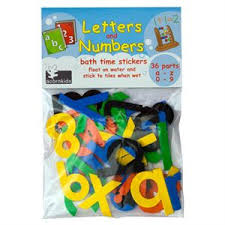 Letters & Numbers: Bath time foam stickers