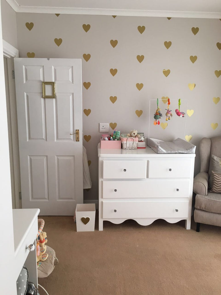 "The Letter Lady Vinyl Wall sticker ""Hearts"" *"