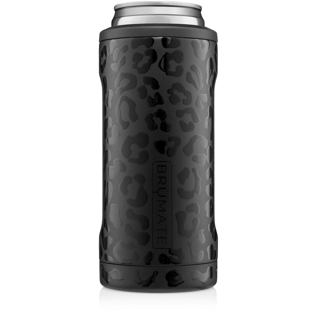 Onyx Leopard Slim Can Cooler