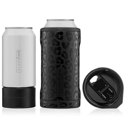 Onyx Leopard Vacuum Insulated Can Cooler