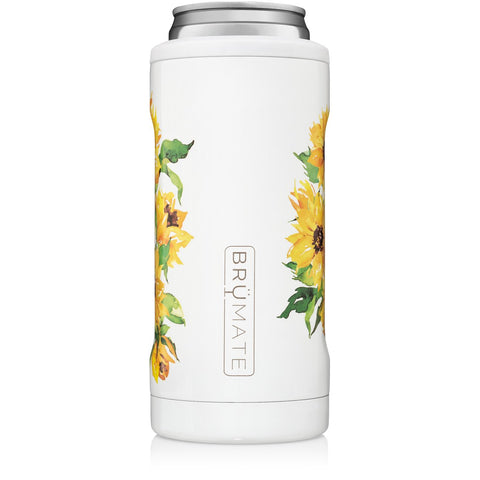 Sunflower Slim Can Cooler