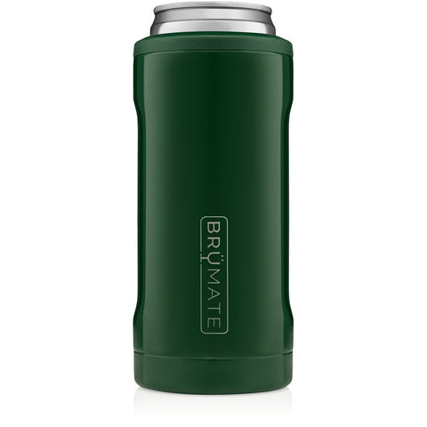 Emerald Green Slim Can Cooler
