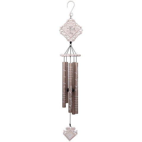 Angels Arms White Vintage Chime