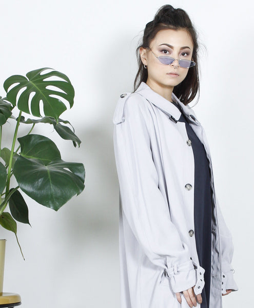 Hawking Grey Trench Coat
